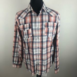 Levi's Plaid Pearl Snap Western Shirt Men's L